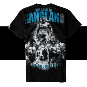 T-shirt Pit BULL Welcome to Gangland Black