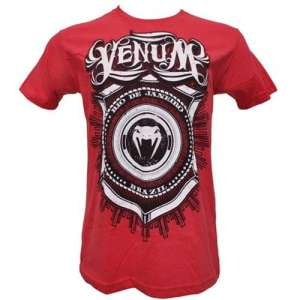 "VENUM ""SHIELD"" T-SHIRT - CZERWONA"