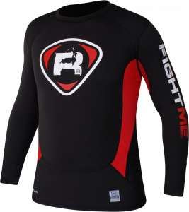 Authentic RDX Fight MMA Rash Guard T-Shirt Black Red