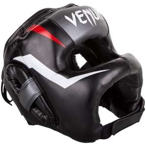 VENUM KASK Z OSŁONĄ NOSA ELITE IRON - BLACK/RED/ICE