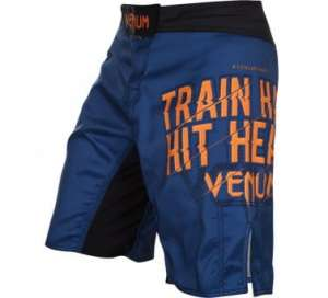 VENUM TRAIN HARD HIT HEAVY FIGHSHORTS - NAVY BLUE