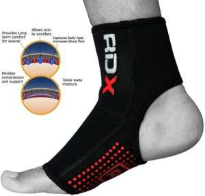 RDX Neoprene Ankle Brace Support Pad Guard MMA Martial arts Foot Gloves M