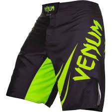 Venum Challenger MMA Fight Shorts - Black/Neo YELLOW
