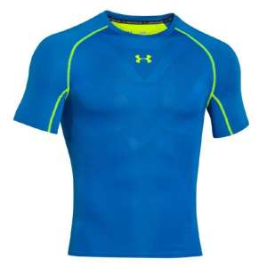 Mens Jet Blue Under Armour Heatgear Armourvent Compression Tee