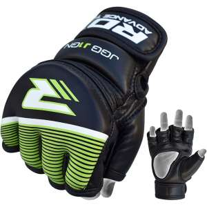 RDX Leather-X Kids MMA/KARATE KYOKUSHIN Grappling Gloves
