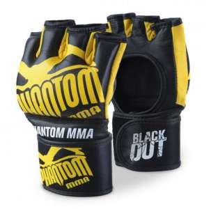 "Phantom Gloves ""Blackout"" - Black/Yellow"
