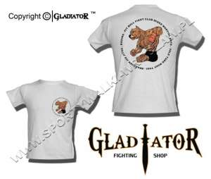 T-shirt brazilian JIU JITSU-PIT BULL-FIGHTER-GLADIATOR