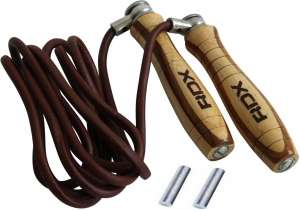 Authentic RDX Leather Skipping Speed Rope Adjustable Weighted Fitness Boxing Jump Gym