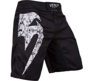 VENUM ORIGINAL GIANT FIGHT SHORTS - BLACK/WHITE