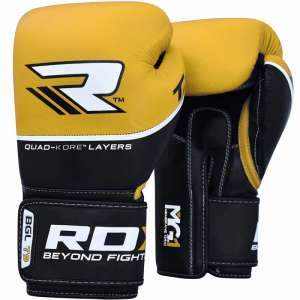 Rękawice bokserskie RDX QUAD-KORE Leather Training Gloves