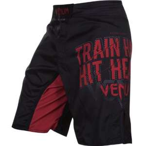 VENUM Train Hard Hit Heavy T-ShirtFight Shorts - Black