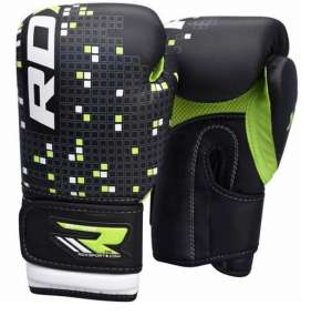 RDX Kids Leather-X 4oz & 6oz Boxing Gloves - black