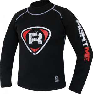 Authentic RDX Neoprene Sweat Shirt Rush Guard Black