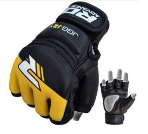 RDX Kids Leather-X Grappling MMA/KARATE KYOKUSHIN Gloves