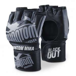 "Phantom MMA Gloves ""Blackout"" - Black/Gray"