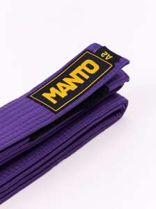 MANTO pas do BJJ purpurowy
