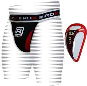 RDX Pro Jock Strap Supporter & Gel Groin Cup Guard MMA Shorts UFC Adbo Boxing FL
