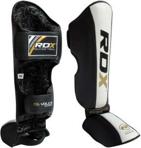 Authentic RDX Leather Leg Protector Shin Pad Black White