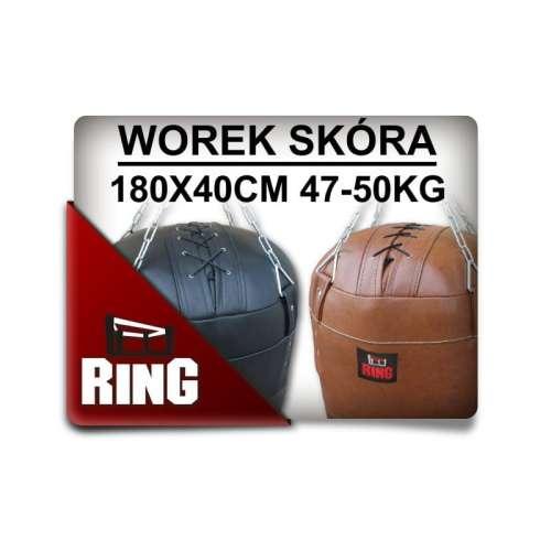 effbcf044 SKÓRA 180/40 WYPEŁNIONY - 47-50KG - worek treningowy-bokserski ...